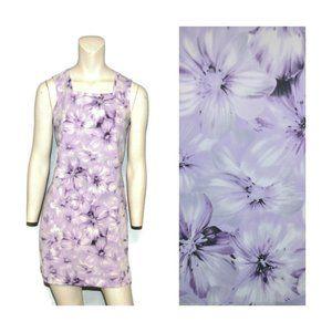 90s Square Neck Floral Print Mini Dress Sleeveless